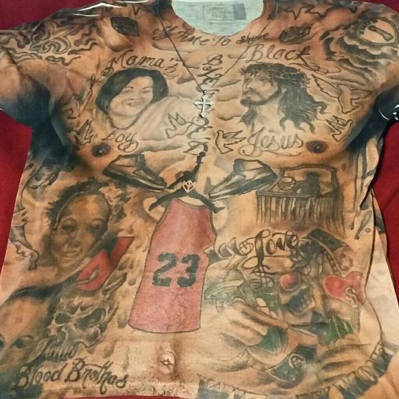80ef4402f fresh brewed tees Other - Black Jesus Tattoo shirt
